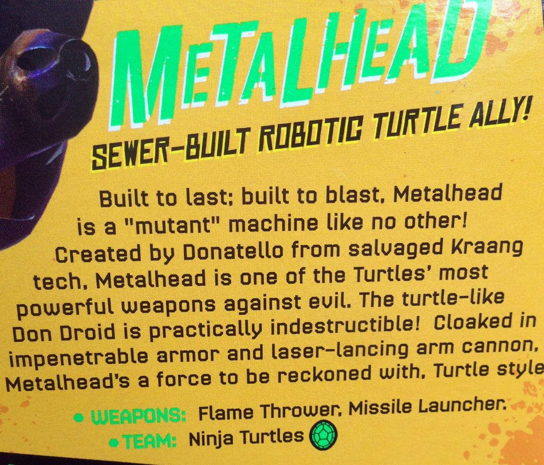 METALHEAD TEENAGE MUTANT NINJA TURTLES TMNT Action Figure Nickelodeon FF7