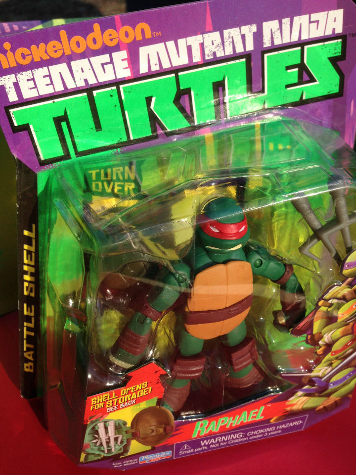 Teenage Mutant Ninja Turtles Battle Shell Raphael Action Figure Toy TMNT FF7