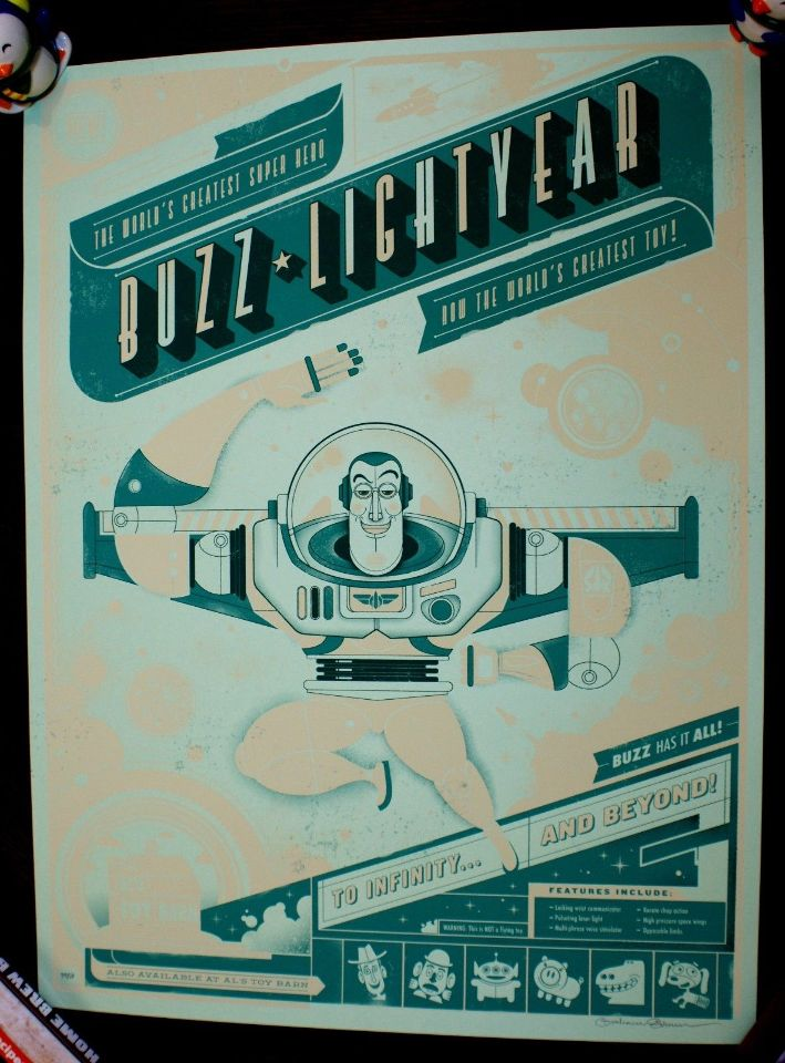 toy story buzz lightyear movie poster print limited edition 50 sn graham erwin