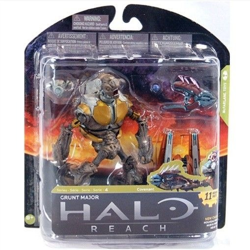 Halo Reach Grunt Major Action Figure McFarlane Toys Series 4 Covenant Xbox  360 | The Wild Robot!