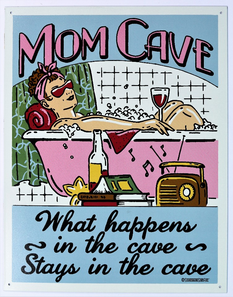 Mom Cave Tin Sign Country Kitchen Man Home Decor Mother Birthday Humor