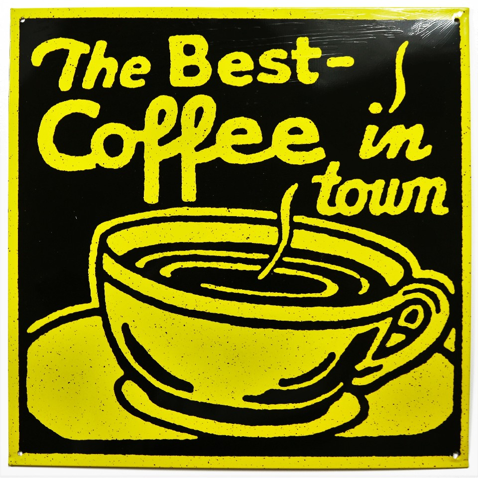 The Best Coffee In Town Tin Sign Restaurant Coffee Shop Bistro Cafe Kitchen