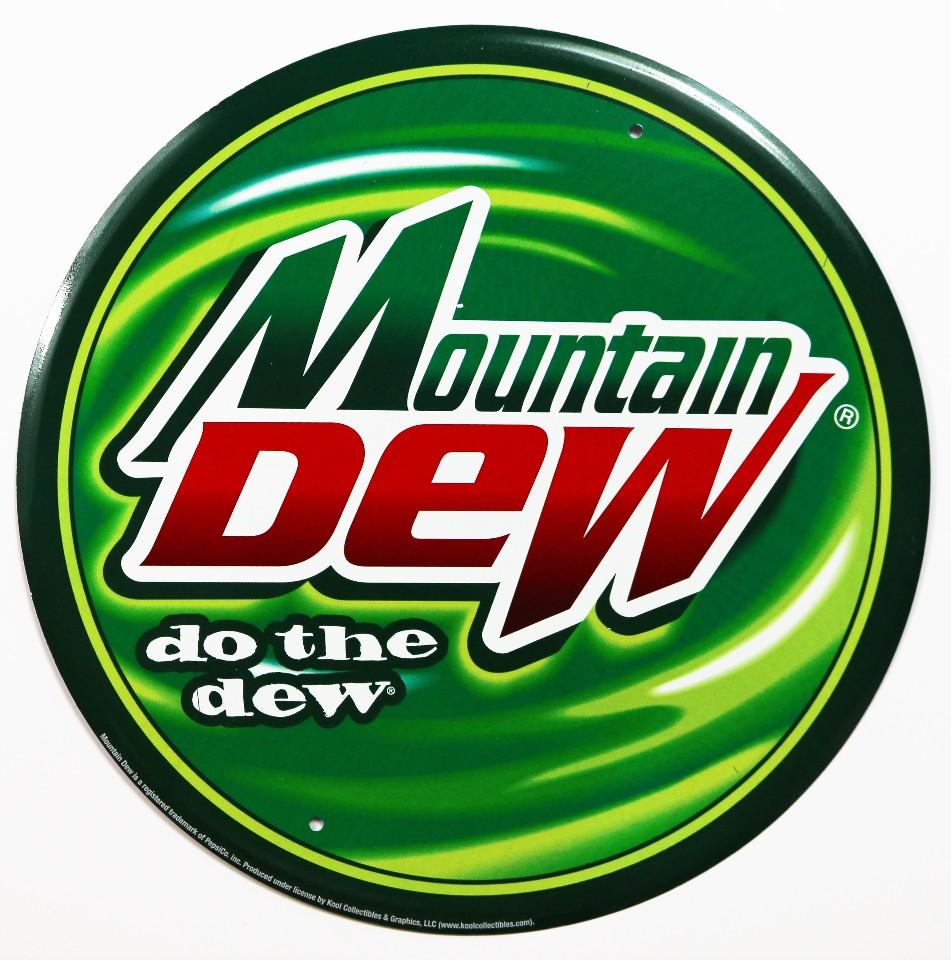 mountain dew do the dew tin sign modern logo soda cola pop
