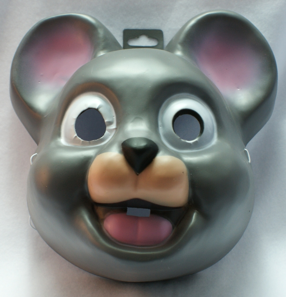 Giant Mouse Head Halloween Mask Y042 Gray Mice | The Wild Robot!