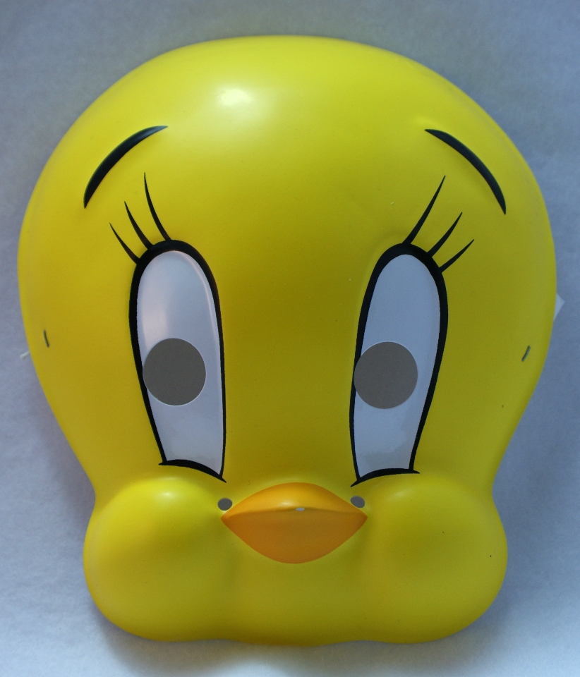 looney tunes tweety bird vintage halloween mask rubies 1994 birthday