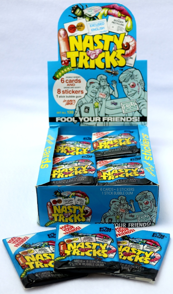 5 Vintage Packs of Nasty Tricks Trading Cards Prank