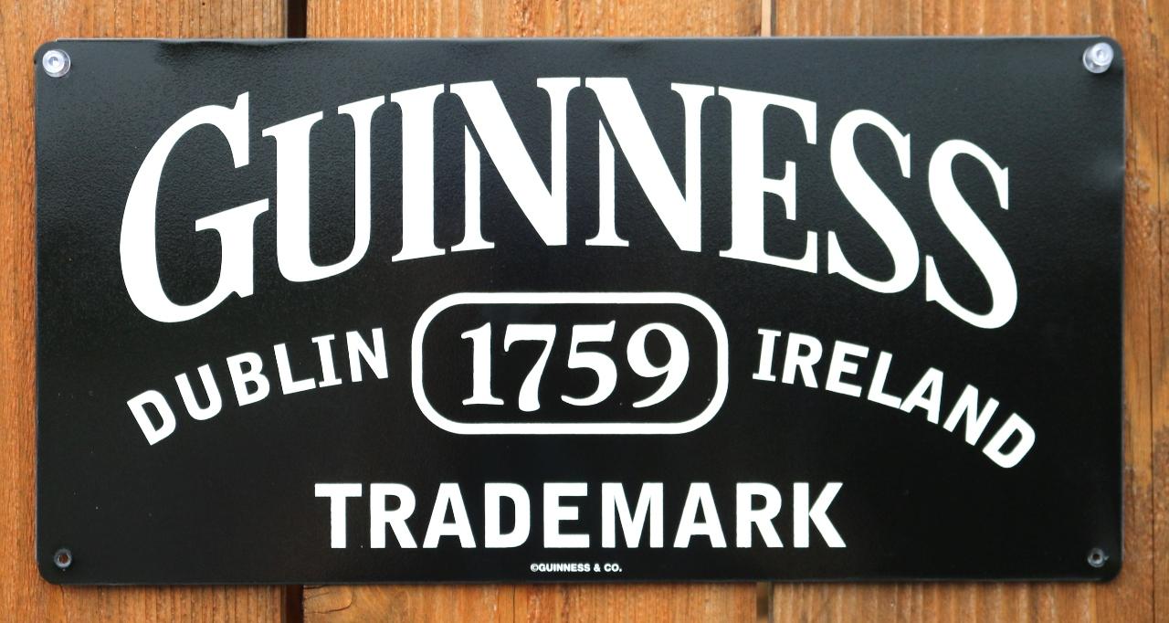 Guinness Beer Dublin Ireland Tin Metal Sign Bar Alcohol