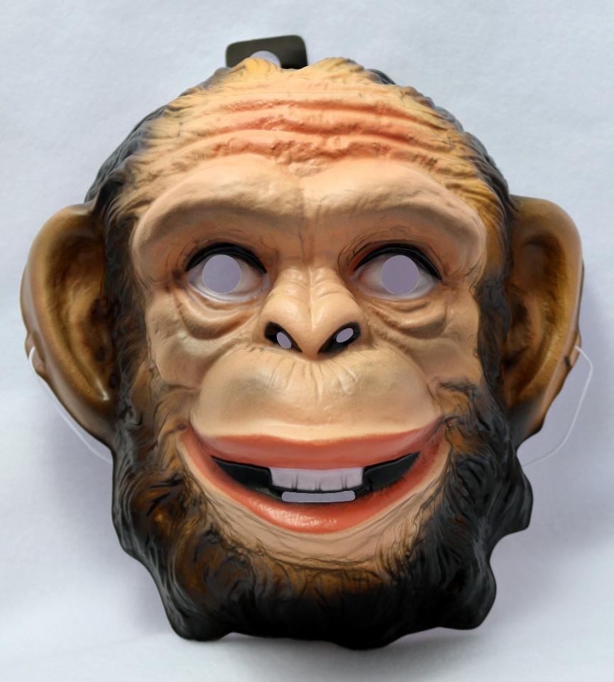 Ape Monkey Halloween Mask Animal Zoo Gorilla Kong Costume Rubies ...