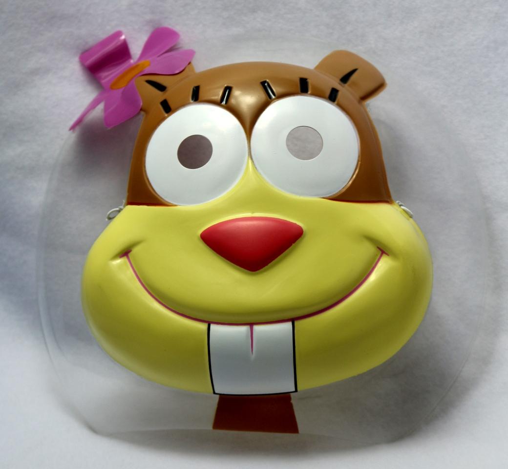 Sandy Cheeks Halloween Mask Sponge Bob Square Pants Nickelodeon ...