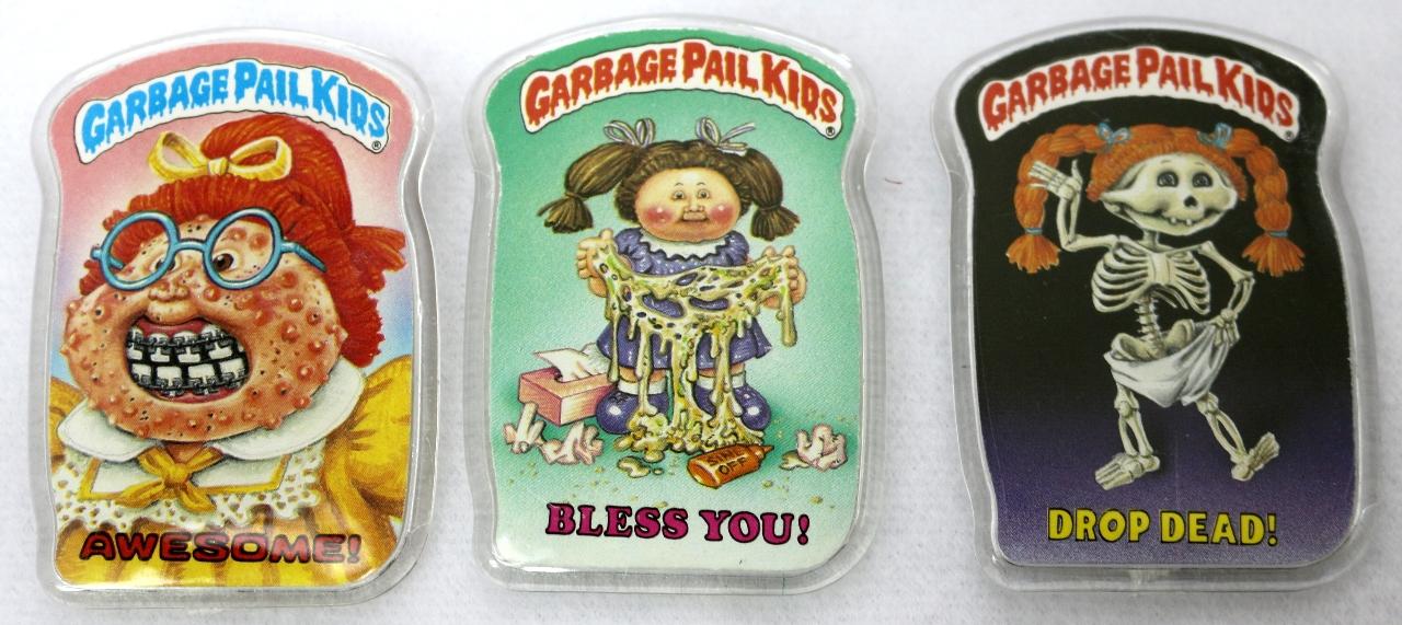 Vintage Topps Garbage Pail Kids Button Set of 3 GPK 1980's Pop Art Lot 2