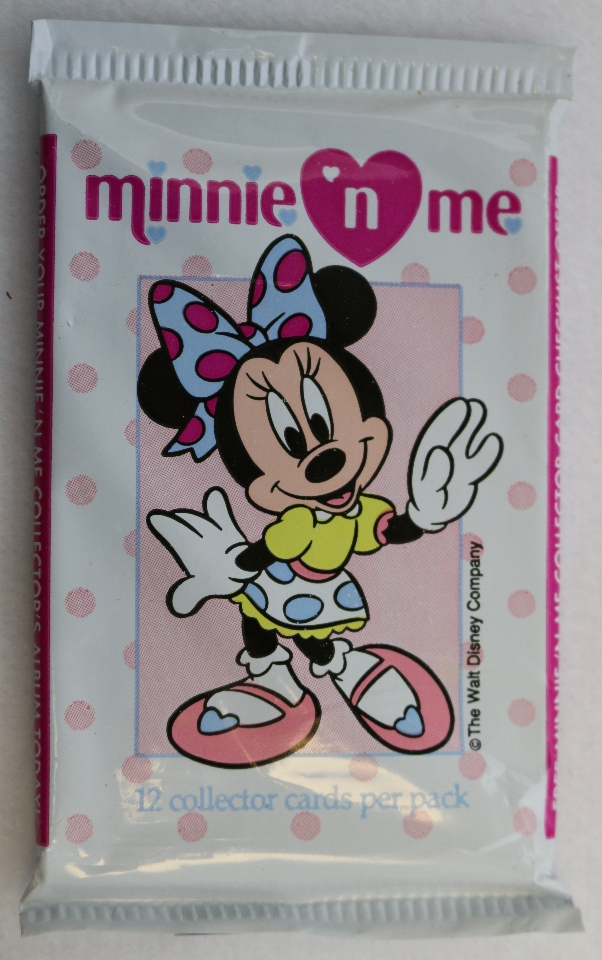 3 Packs Of Vintage Disney Minnie N Me Trading Cards