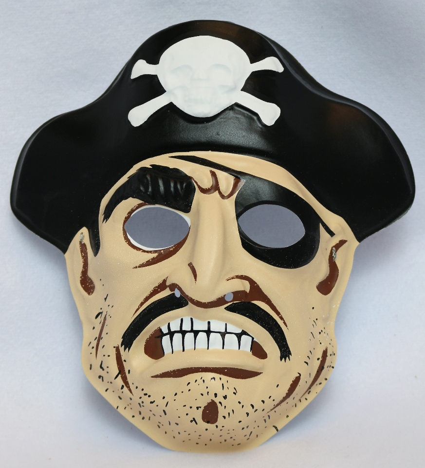 Vintage Collegeville Pirate Halloween Mask Pirates Skull