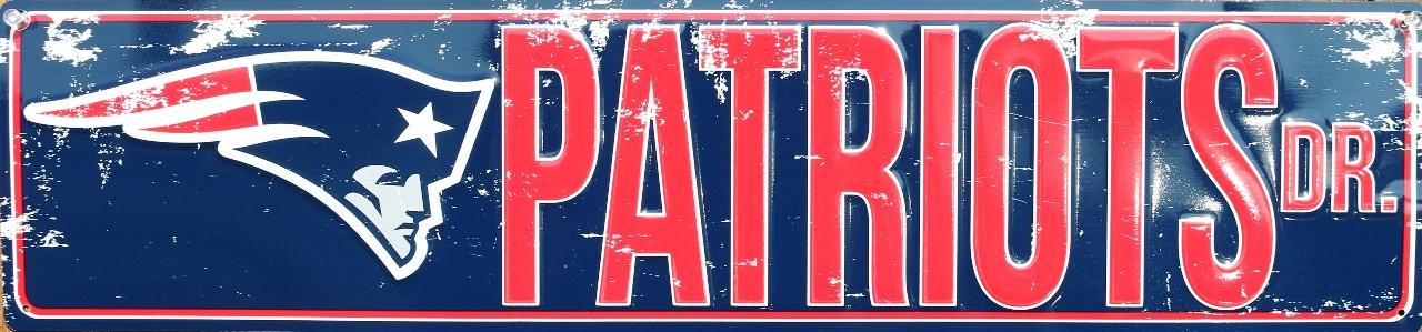 New England Patriots Drive Tin Metal Street Sign Nfl