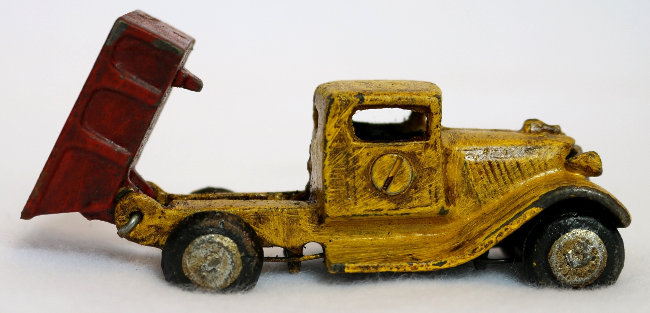 cast iron toy dump truck vintage style home kids bedroom office