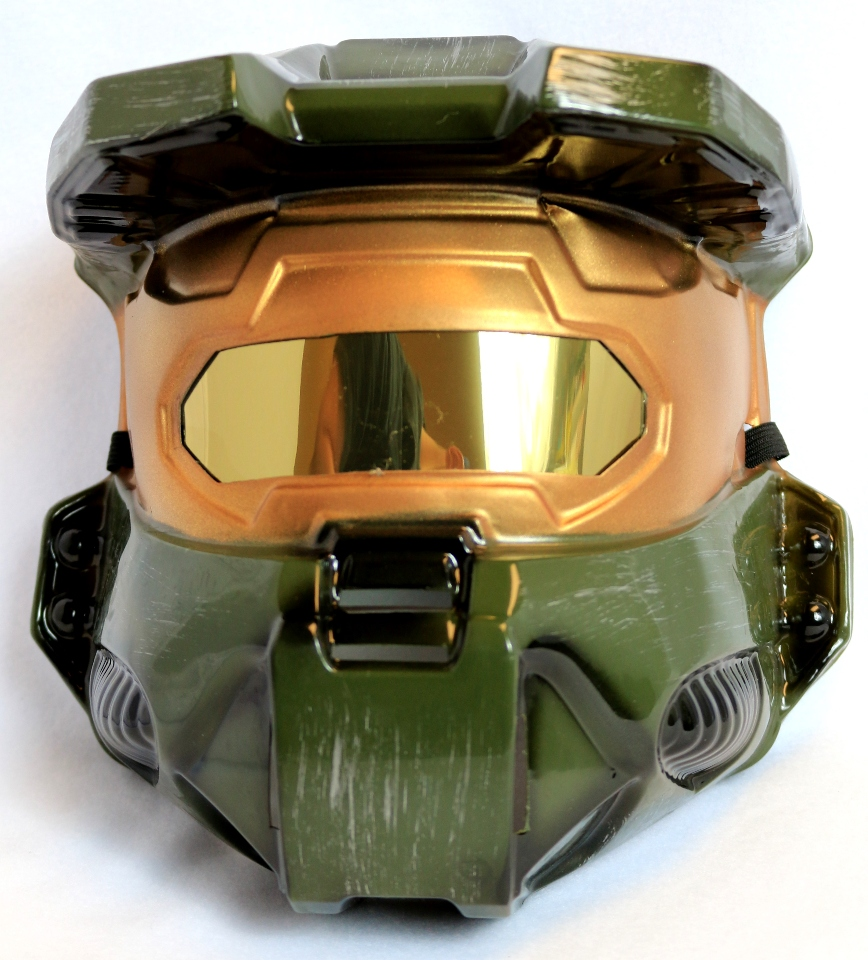 halo master chief halloween mask green spartan xbox one 360 video game y142 - Halloween Halo