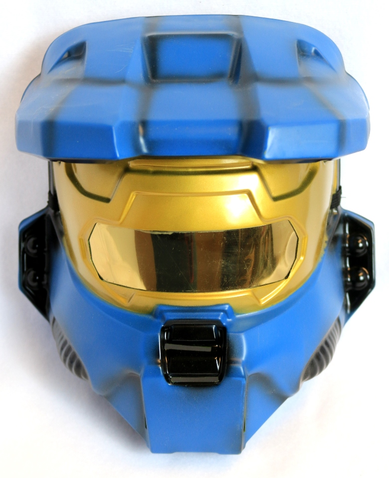 Halo Blue Spartan Halloween Mask XBox One 360 Master Chief Video Game Y143