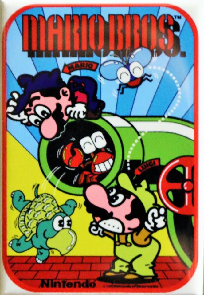 Nintendo Mario Bros Side Art FRIDGE MAGNET Vintage Retro Logo Arcade Game  Video Game   The Wild Robot!
