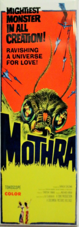 Mothra Movie Poster Fridge Magnet Kaiju Godzilla Toho