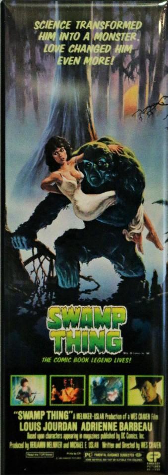 swamp thing movie poster fridge magnet 1980s dc comics