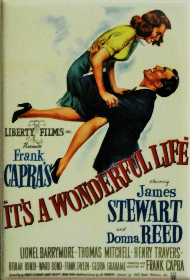Its A Wonderful Life Movie Poster Fridge Magnet Christmas Classic Vintage Style The Wild Robot