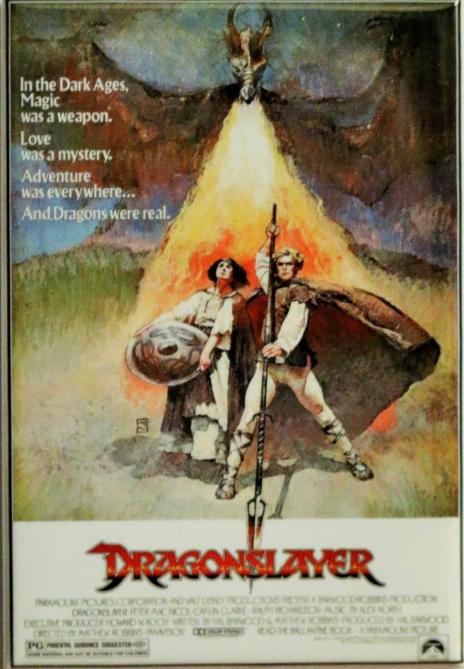 dragon slayer movie poster fridge magnet vintage style