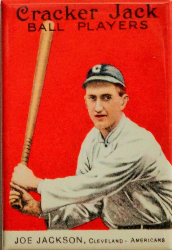 Shoeless Joe Jackson Cracker Jack Baseball Card Fridge Magnet Cleveland Indians Mlb