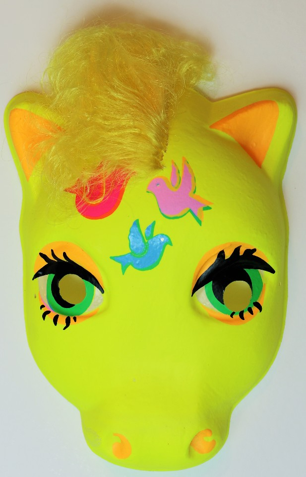 Vintage My Little Pony  Halloween Mask Yellow Birds Plastirama Hasbro Bradley Rare Import