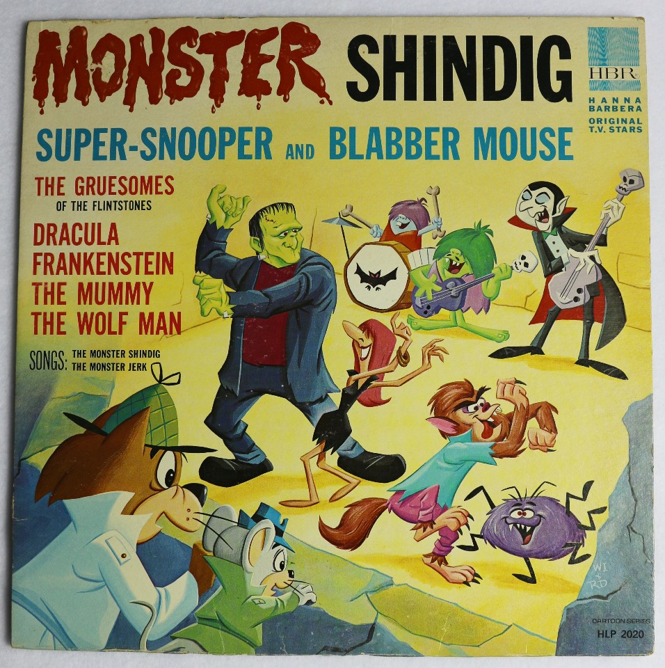 Vintage Hanna Barbera Monster Shindig Record Tom & Jerry Frankenstein Halloween Music 1965
