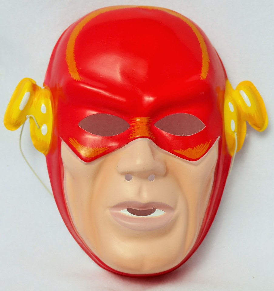 Vintage DC Comics The Flash Halloween Mask 1991 Costume Comic Book  sc 1 st  The Wild Robot! & Vintage DC Comics The Flash Halloween Mask 1991 Costume Comic Book ...
