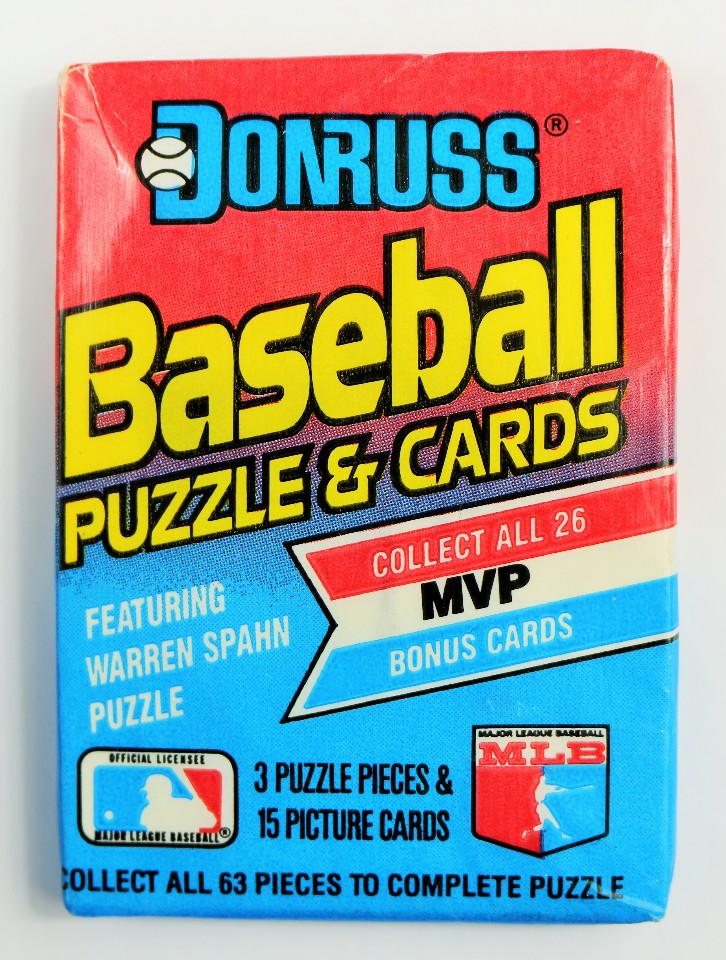 Vintage 1989 Donruss Baseball Trading Cards MLB Wax Pack 89 Leaf