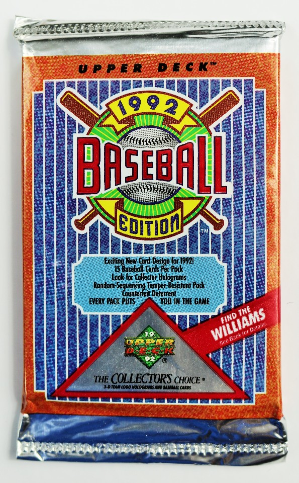 Vintage 1992 Edition Upper Deck Baseball Trading Cards MLB ...