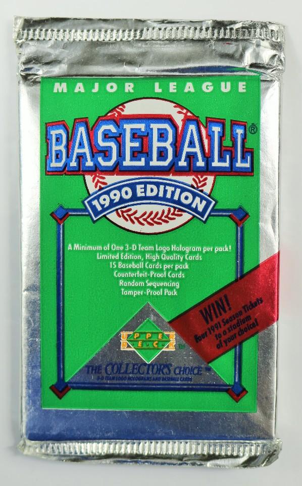 Vintage 1990 Upper Deck Baseball Trading Cards MLB 90 Major League Collectors