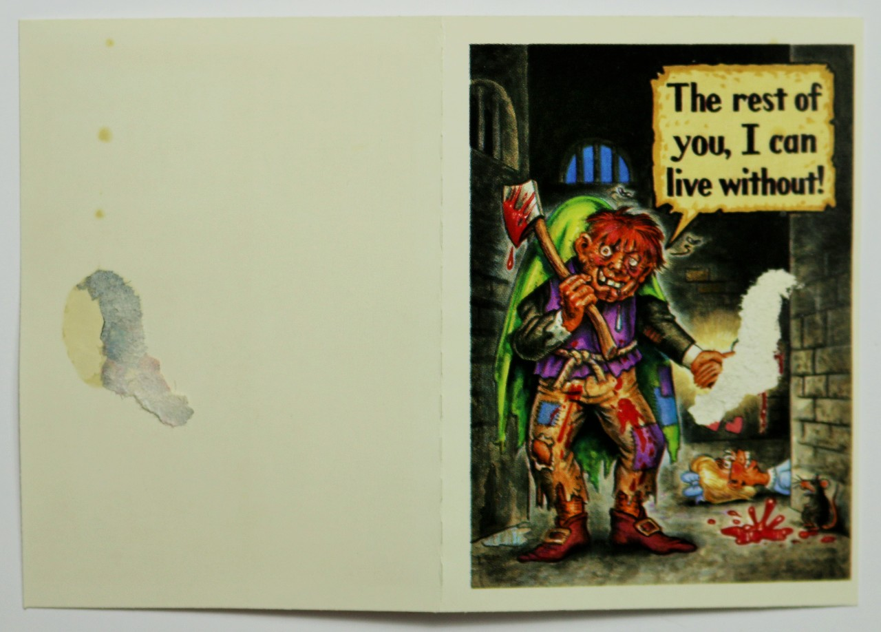 Vintage Topps Gruesome Greetings Cards Valentines Days Halloween