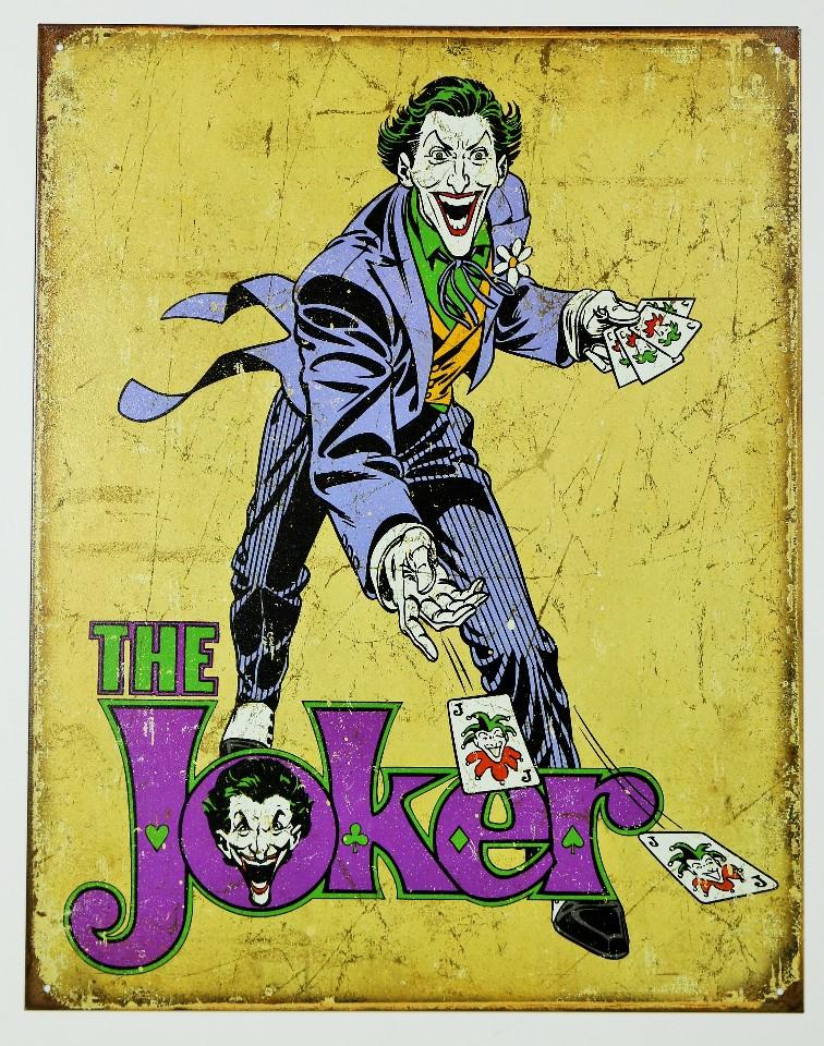 The Joker Tin Sign Dc Comics Suicide Squad Batman Villian