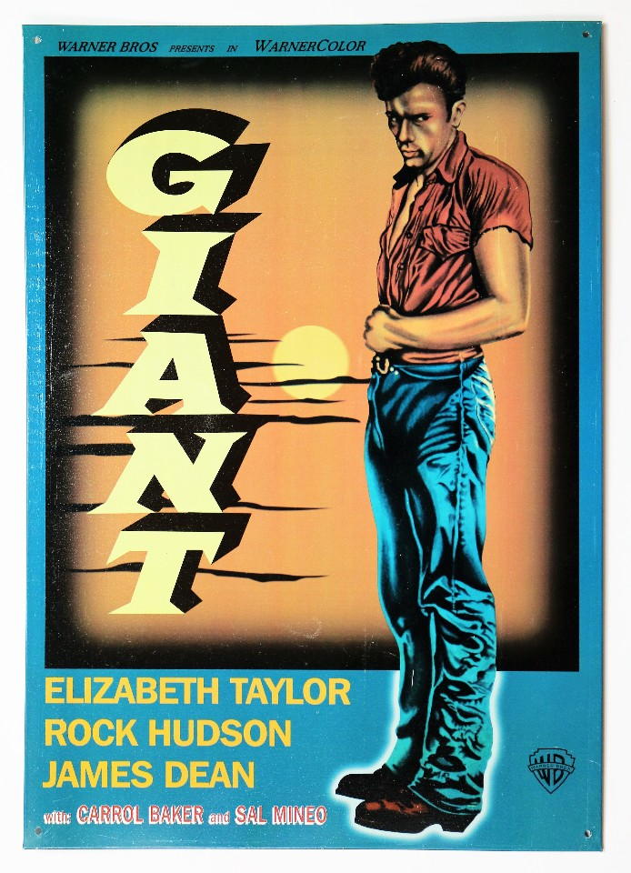 giant tin metal sign movie poster james dean elizabeth. Black Bedroom Furniture Sets. Home Design Ideas