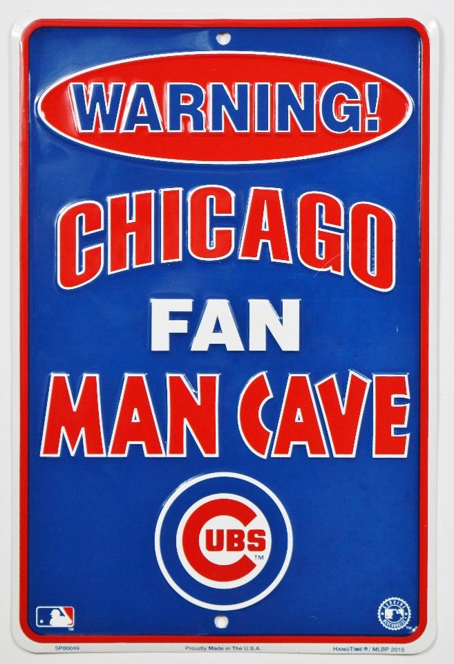 Mlb Man Cave Signs : Chicago cubs fan man cave tin sign mlb baseball wrigley
