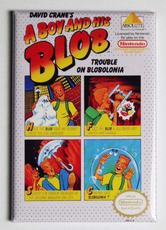 Nintendo A Boy And His Blob Fridge Magnet Video Game Box