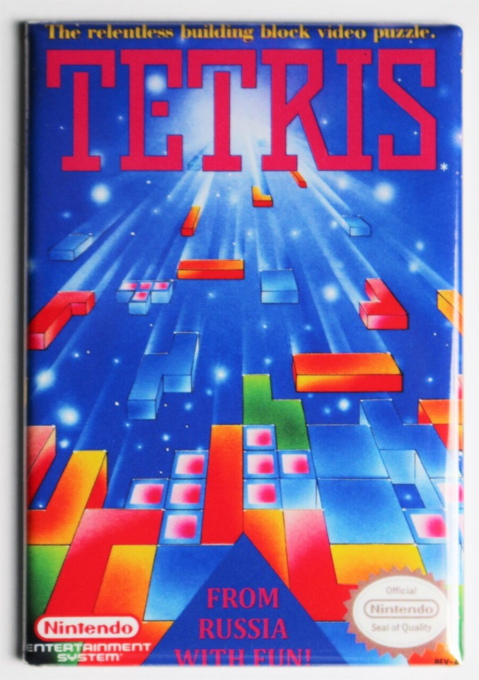Nintendo Tetris FRIDGE MAGNET Video Game Box Classic NES | The Wild Robot!