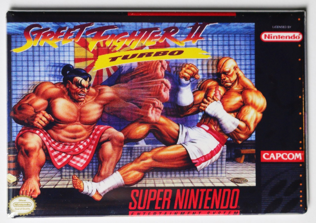 Super Nintendo Snes Street Fighter 2 Turbo Fridge Magnet Video Game Box The Wild Robot