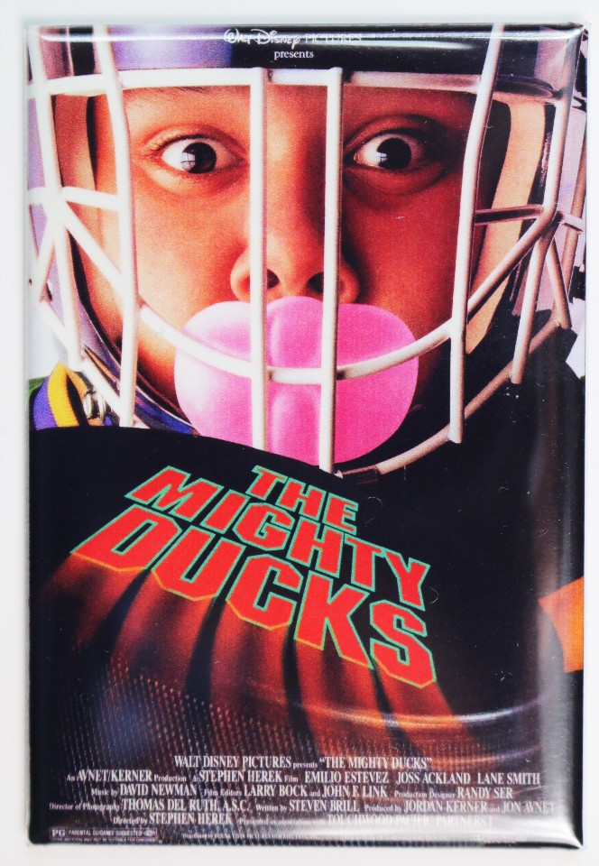 The Mighty Ducks Movie Poster Fridge Magnet Disney Sports