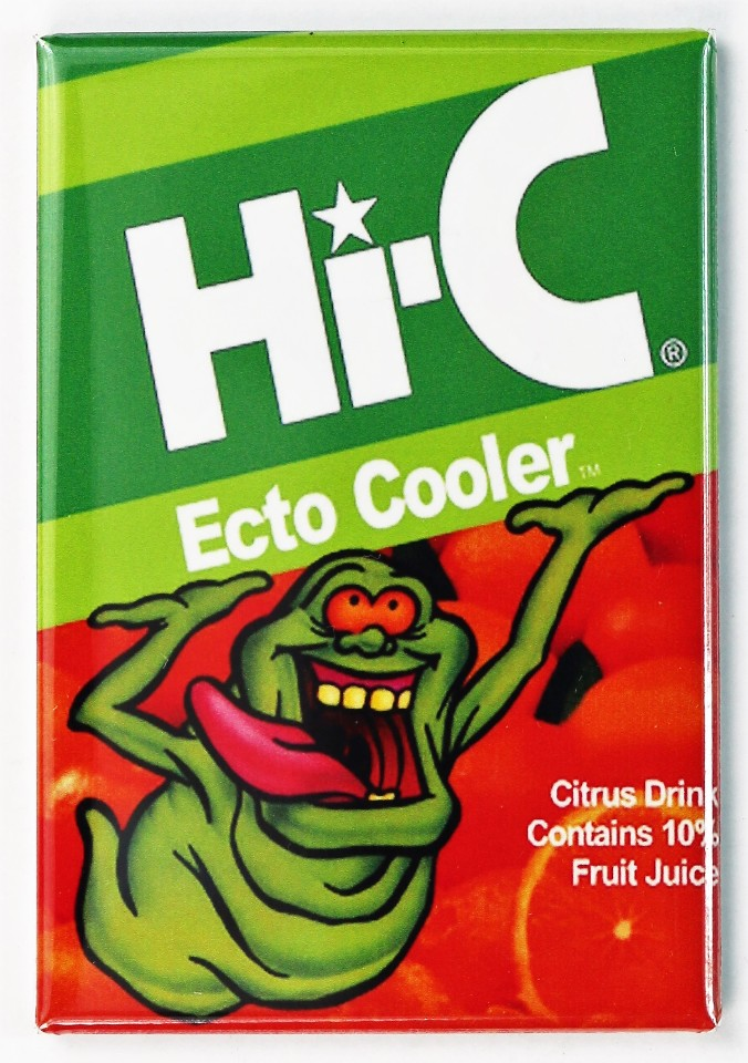 Ghostbusters Hi C Ecto Cooler FRIDGE MAGNET Slimer | The Wild Robot!