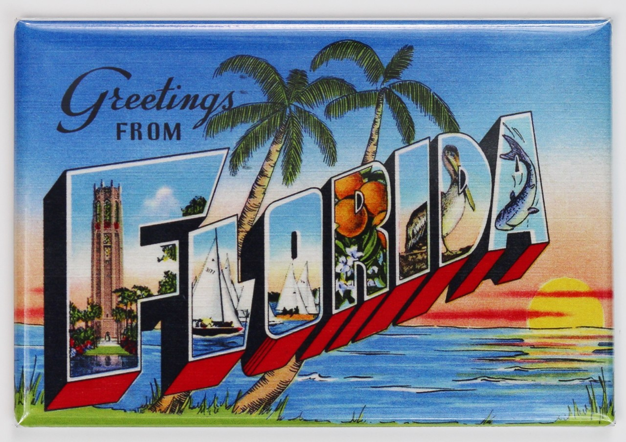Greetings from florida postcard fridge magnet miami orlando disney greetings from florida postcard fridge magnet miami orlando disney jacksonville kristyandbryce Image collections