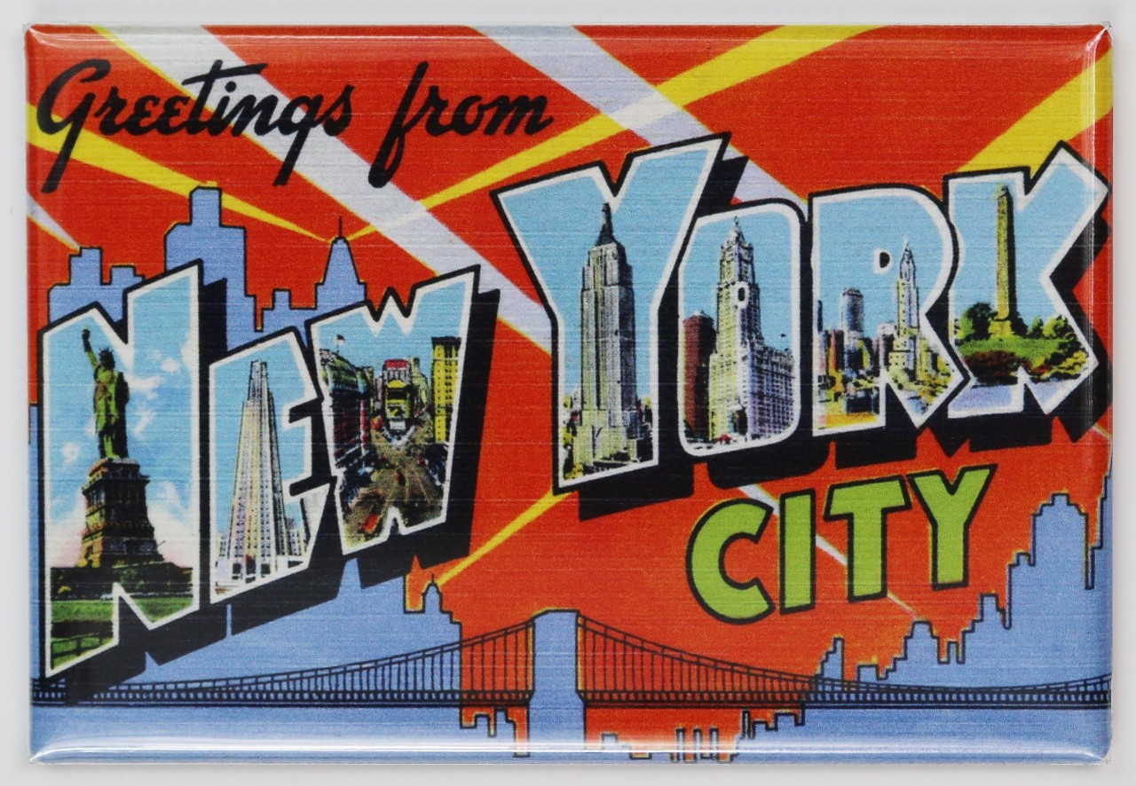 Greetings From New York City Postcard Fridge Magnet Nyc The Wild