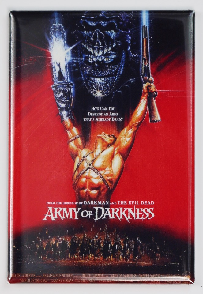 Army Of Darkness Movie Poster Fridge Magnet Evil Dead