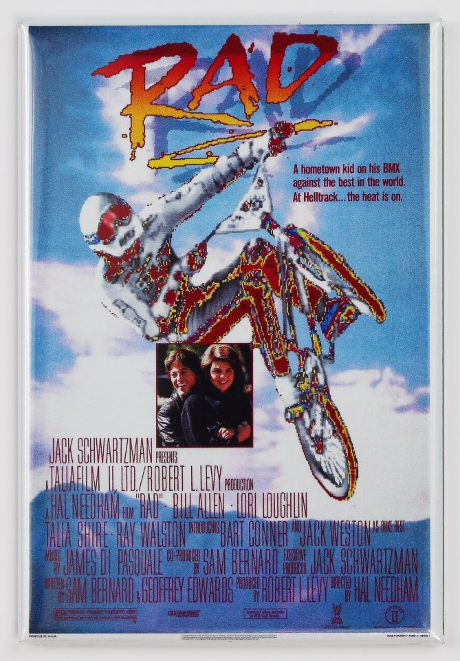 Rad Movie Poster Fridge Magnet 1980 S Bmx Bike Teen Film