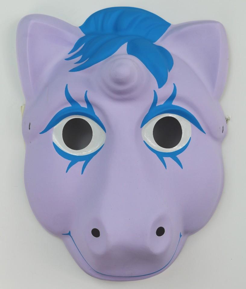 Vintage My Little Pony Halloween Mask Hasbro 1986 Unicorn