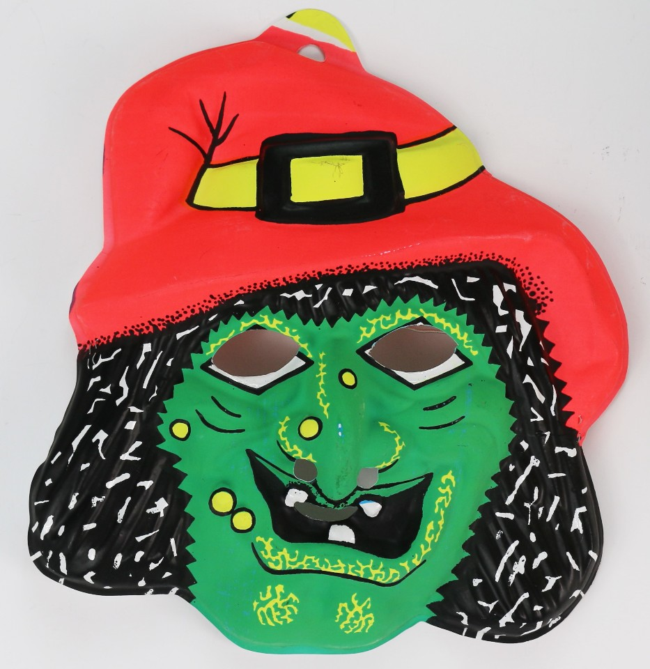 Vintage Wicked Witch Halloween Mask Fun World Monster 1970s 1980s