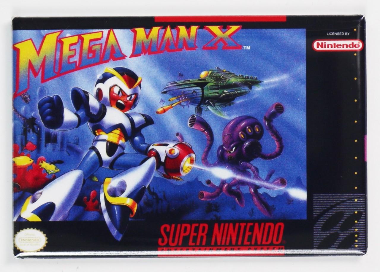 Snes Mega Man X Video Game Fridge Magnet Nintendo Arcade