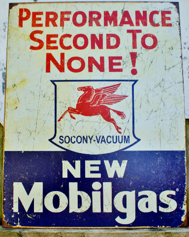 Mobile Gas Oil Mobilgas Pegasus Tin Sign Vintage Styled