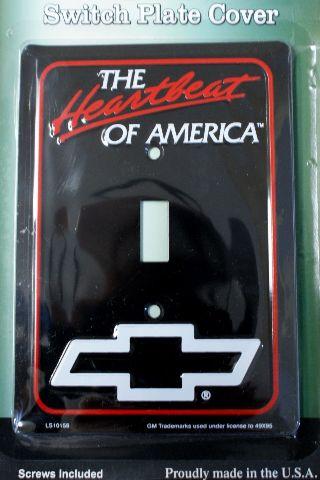 Heartbeat of America Chevrolet Light Switch Plate Cover Chevy Corvette Camaro C2